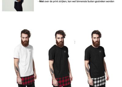 Heren Shirts Bottom Tee