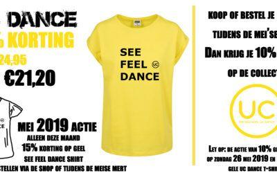 T-shirt actie maand mei en kleding actie Mei'se Mert 2019