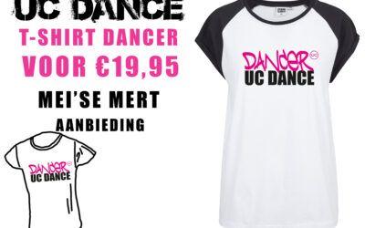 T-shirt actie 'Dancer UC Dance' tijdens de Mei'se Mert