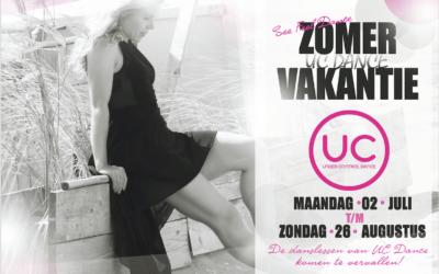2 juli t/m 26 augustus – Zomervakantie UC Dance