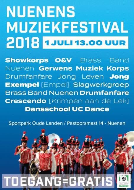 1 juli – Optreden tijdens Muziekfestival Nuenen