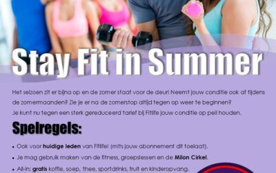 Stay Fit in Summer bij Fitlife Budel