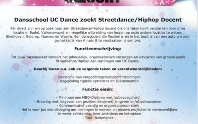 Vacature Streetdance/Hiphop docent