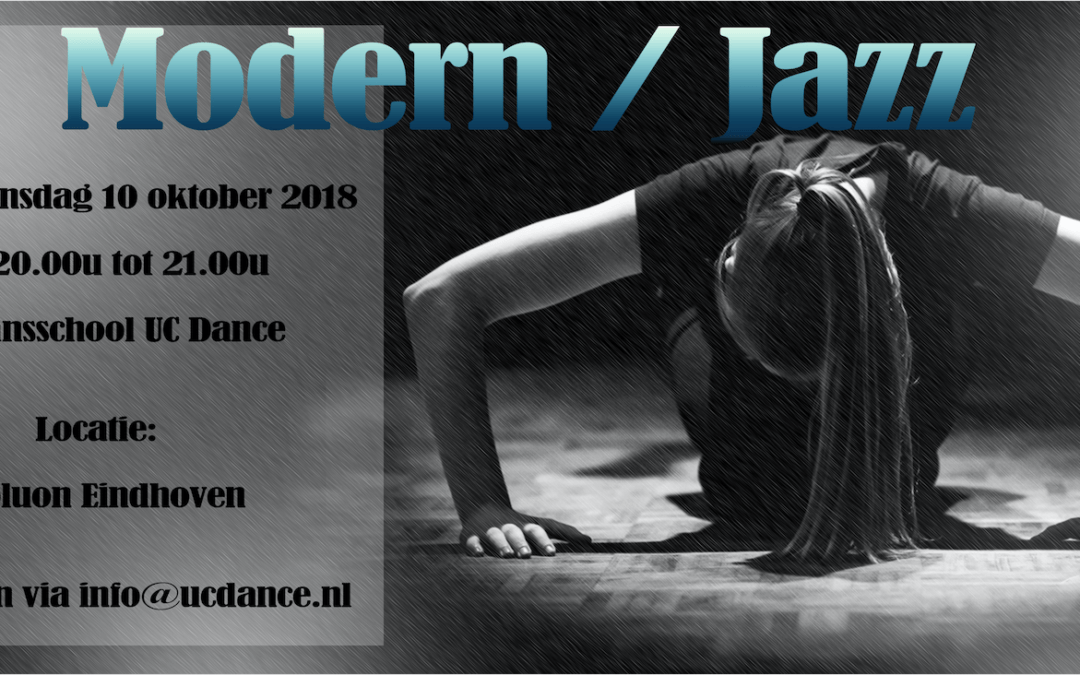 10 oktober – NIEUW Modern/Jazz locatie Eindhoven