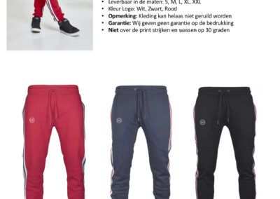 Heren Side Stripe Sweatpants