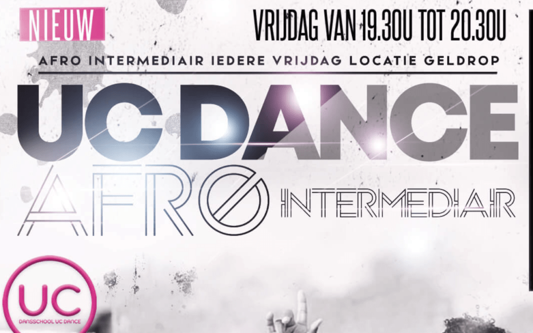 6 september – start NIEUWE AFRO Intermediair les op vrijdag in Geldrop