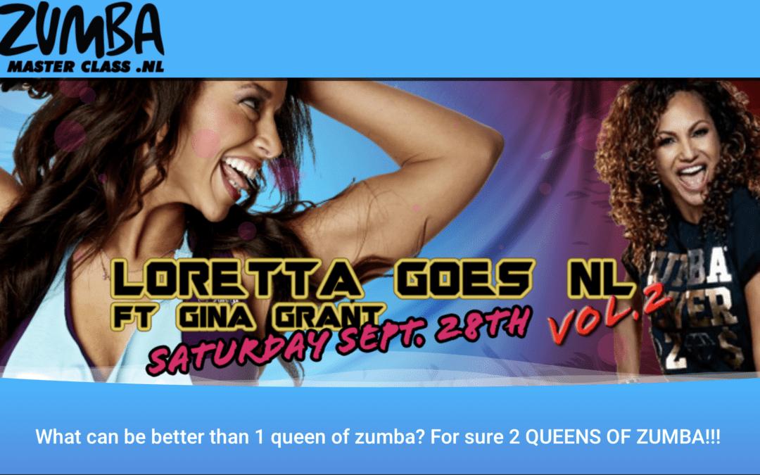 28 september – Zumba docenten naar Master Class van Loretta en Gina Grant