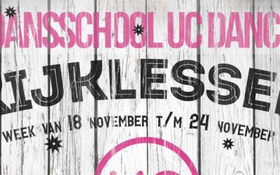 18 november t/m 24 november – Kijklessen op alle locaties