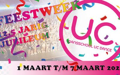 Feestweek i.v.m. 12,5 jarig jubileum UC Dance