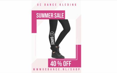 Summer Sale 40% korting op voorraad