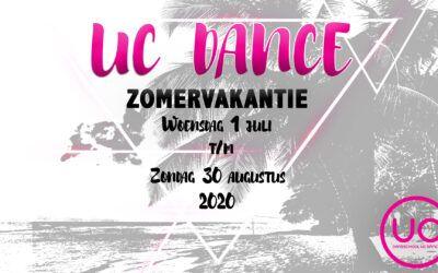 1 juli t/m 30 augustus – Zomervakantie UC Dance
