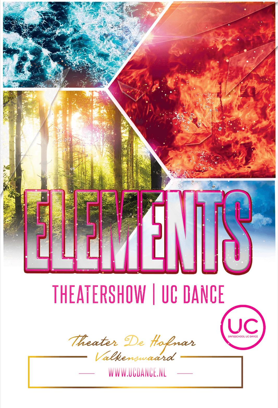 Theatershow Elements UC Dance dansschool