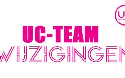 UC-Team wijzigingen