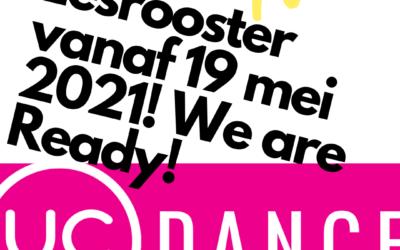 Definitief lesrooster vanaf 19 mei 2021!